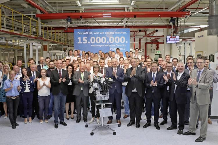 Produktionsjubiläum bei Volkswagen in Chemnitz